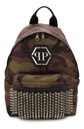 Мужской комбинированный рюкзак PHILIPP PLEIN хаки цвета, арт. P20A MBA0916 PLE010N | Фото 1