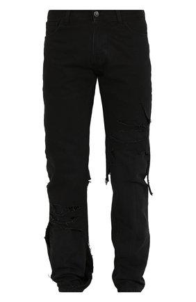 Мужские джинсы RAF SIMONS черного цвета, арт. 201-311A-10134 | Фото 1