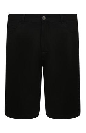 Мужские джинсовые шорты RAF SIMONS черного цвета, арт. 201-341-10130 | Фото 1