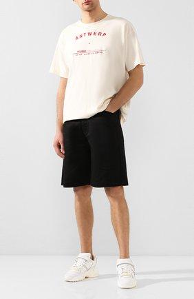 Мужские джинсовые шорты RAF SIMONS черного цвета, арт. 201-341-10130 | Фото 2