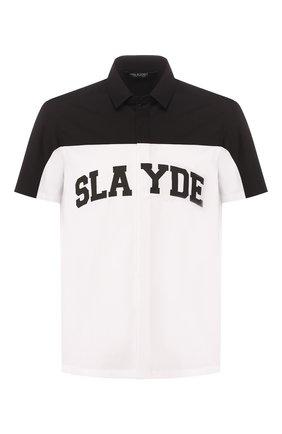 Мужская хлопковая рубашка NEIL BARRETT черно-белого цвета, арт. BCM1353S/N028S | Фото 1