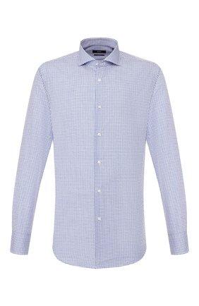 Мужская хлопковая сорочка BOSS синего цвета, арт. 50427742 | Фото 1