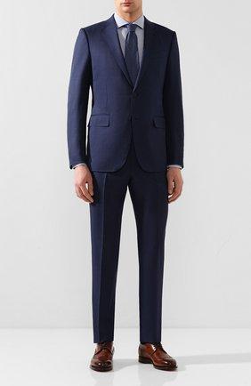 Мужская хлопковая сорочка BOSS синего цвета, арт. 50427742 | Фото 2
