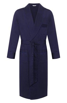 Мужской хлопковый халат ROBERTO RICETTI темно-синего цвета, арт. VESTAGLIA R0BE/C0RD0BA 5492 | Фото 1