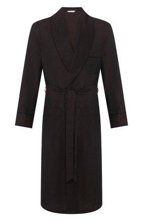 Мужской хлопковый халат ROBERTO RICETTI коричневого цвета, арт. VESTAGLIA R0BE/0R02419 | Фото 1