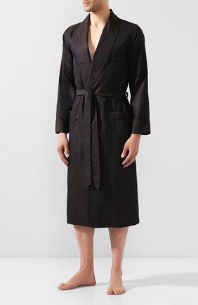 Мужской хлопковый халат ROBERTO RICETTI коричневого цвета, арт. VESTAGLIA R0BE/0R02419 | Фото 2