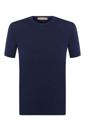 Мужская хлопковая футболка DANIELE FIESOLI темно-синего цвета, арт. DF 1351 | Фото 1