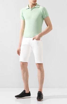 Мужское поло DANIELE FIESOLI светло-зеленого цвета, арт. DF 1042 | Фото 2