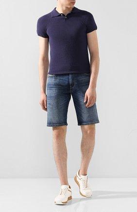 Мужское поло DANIELE FIESOLI темно-синего цвета, арт. DF 1042 | Фото 2
