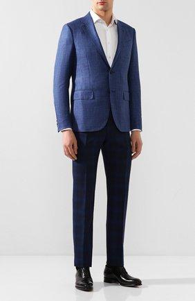 Мужской шерстяные брюки BERWICH темно-синего цвета, арт. VULCAN0/AN1294 | Фото 2