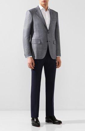 Мужской шерстяные брюки BERWICH темно-синего цвета, арт. VULCAN0/TT1224 | Фото 2