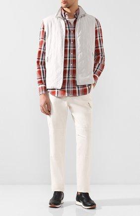 Рубашка из смеси хлопка и льна | Фото №2