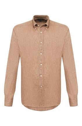 Мужская льняная рубашка ETON светло-коричневого цвета, арт. 1000 01242 | Фото 1