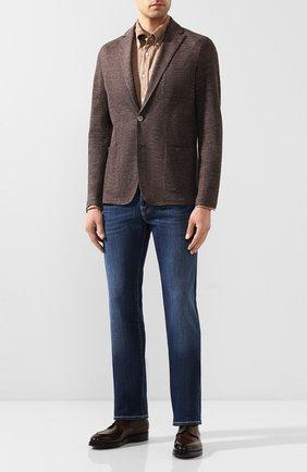 Мужская льняная рубашка ETON светло-коричневого цвета, арт. 1000 01242 | Фото 2