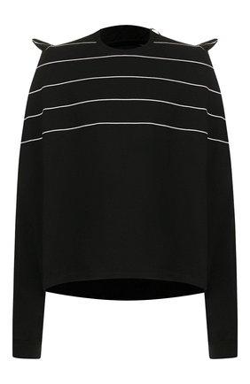 Мужская хлопковый лонгслив Y/PROJECT черного цвета, арт. P020-S18 J10 | Фото 1