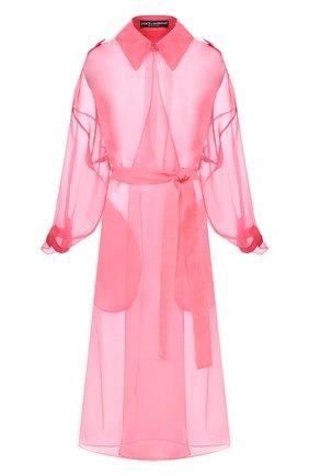 Женский шелковый плащ DOLCE & GABBANA розового цвета, арт. F0Z65T/FU1BU | Фото 1