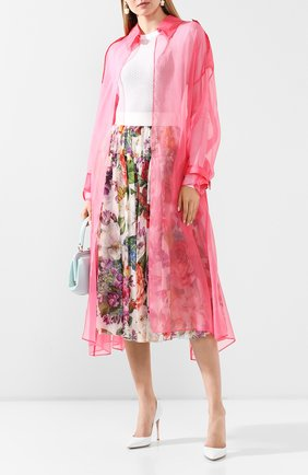 Женский шелковый плащ DOLCE & GABBANA розового цвета, арт. F0Z65T/FU1BU | Фото 2