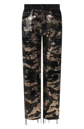 Женские джинсы с пайетками R13 разноцветного цвета, арт. R13W5101-944 | Фото 1