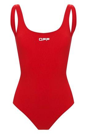 Женский слитный купальник OFF-WHITE красного цвета, арт. 0WFA043S20FAB0012501 | Фото 1