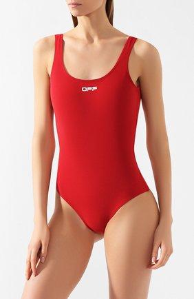 Женский слитный купальник OFF-WHITE красного цвета, арт. 0WFA043S20FAB0012501 | Фото 2