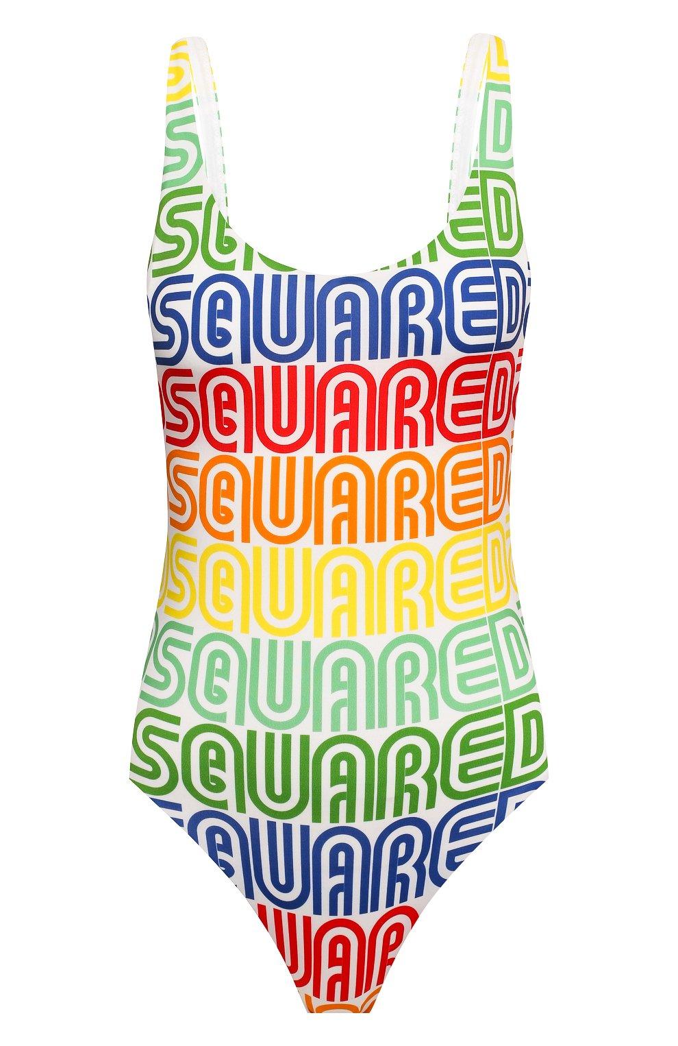 Женский слитный купальник DSQUARED2 разноцветного цвета, арт. D6BGC2690   Фото 1
