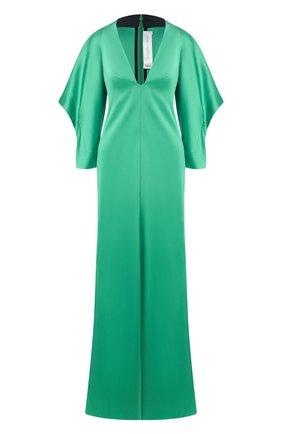 Женское платье-макси VICTORIA BECKHAM зеленого цвета, арт. 1120WDR000941A | Фото 1