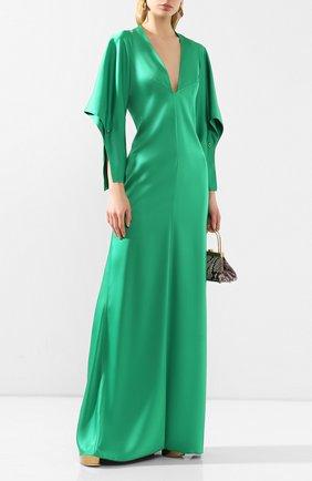 Женское платье-макси VICTORIA BECKHAM зеленого цвета, арт. 1120WDR000941A | Фото 2