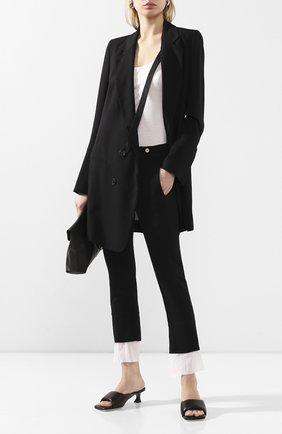 Женские шерстяные брюки ANN DEMEULEMEESTER черного цвета, арт. 2001-1400-P-170-099   Фото 2