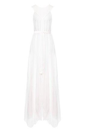 Женское хлопковое платье ANN DEMEULEMEESTER белого цвета, арт. 2001-2350-P-121-001   Фото 1