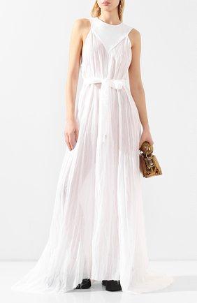Женское хлопковое платье ANN DEMEULEMEESTER белого цвета, арт. 2001-2350-P-121-001   Фото 2