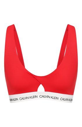 Женский бра-топ CALVIN KLEIN красного цвета, арт. KW0KW00925 | Фото 1
