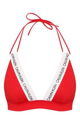 Женский треугольный бра CALVIN KLEIN красного цвета, арт. KW0KW00896 | Фото 1