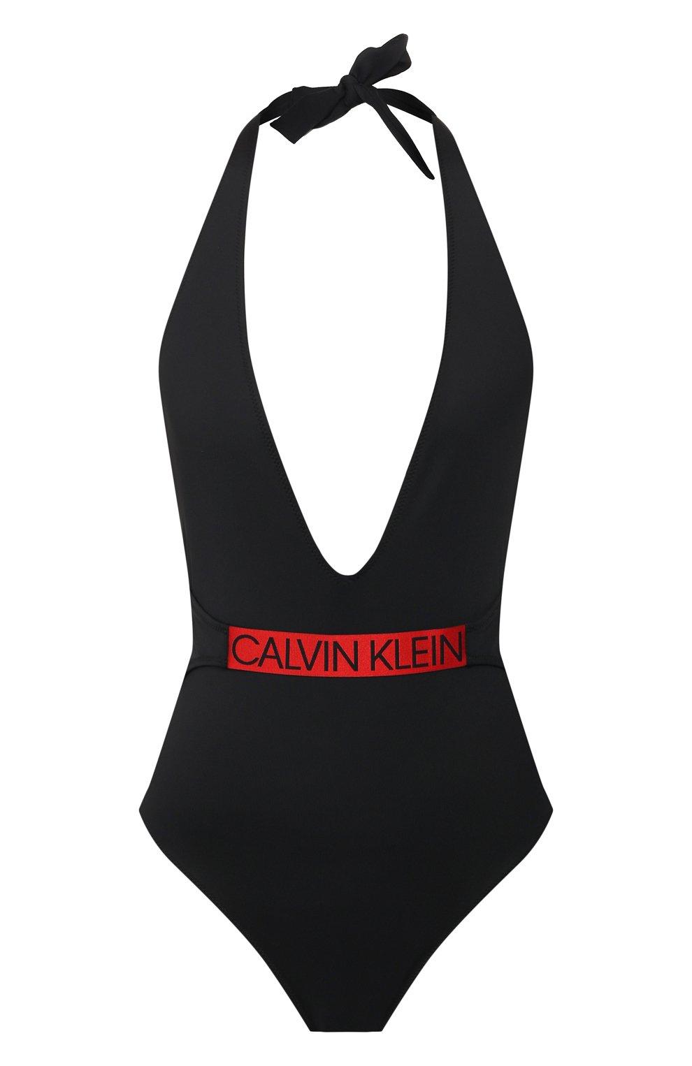 Женский слитный купальник CALVIN KLEIN черного цвета, арт. KW0KW00847 | Фото 1