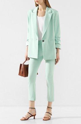 Женские брюки ALICE + OLIVIA светло-зеленого цвета, арт. CC002261102 | Фото 2