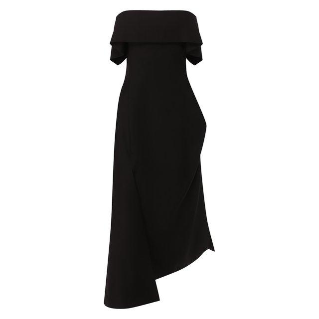 Платье из смеси шерсти и шелка Lanvin