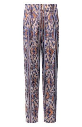 Женские брюки из смеси вискозы и хлопка FORTE_FORTE синего цвета, арт. 7204 | Фото 1