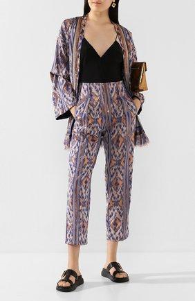 Женские брюки из смеси вискозы и хлопка FORTE_FORTE синего цвета, арт. 7204 | Фото 2