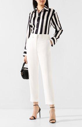 Женские брюки из вискозы BALMAIN белого цвета, арт. TF05172/V089 | Фото 2