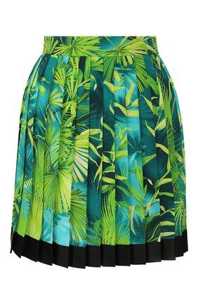 Женская шелковая юбка VERSACE зеленого цвета, арт. A79448/A234699   Фото 1