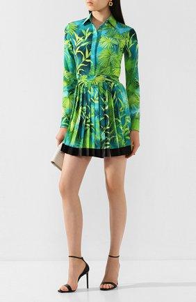 Женская шелковая юбка VERSACE зеленого цвета, арт. A79448/A234699   Фото 2