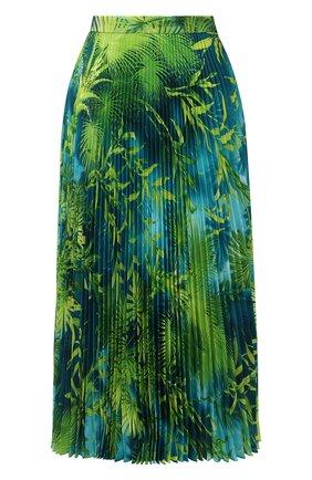 Женская плиссированная юбка VERSACE зеленого цвета, арт. A79719/A234748   Фото 1