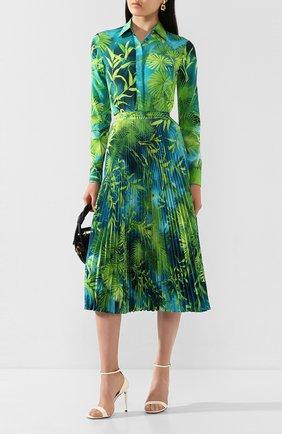 Женская плиссированная юбка VERSACE зеленого цвета, арт. A79719/A234748   Фото 2