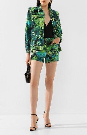 Женская джинсовая куртка VERSACE зеленого цвета, арт. A86573/A234707 | Фото 2