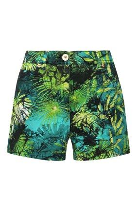 Женские джинсовые шорты VERSACE зеленого цвета, арт. A86625/A234709 | Фото 1