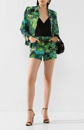 Женские джинсовые шорты VERSACE зеленого цвета, арт. A86625/A234709 | Фото 2