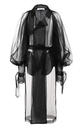 Женский плащ ACT N1 черного цвета, арт. SSC2007   Фото 1 (Материал внешний: Синтетический материал; Рукава: Длинные; Стили: Классический)