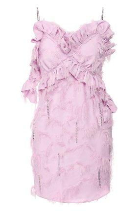 Женское мини-платье ACT N1 светло-розового цвета, арт. SSD2003   Фото 1 (Материал внешний: Синтетический материал; Длина Ж (юбки, платья, шорты): Мини; Материал подклада: Синтетический материал; Рукава: Без рукавов, Короткие; Женское Кросс-КТ: Платье-одежда; Случай: Повседневный)