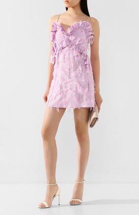 Женское мини-платье ACT N1 светло-розового цвета, арт. SSD2003   Фото 2 (Материал внешний: Синтетический материал; Длина Ж (юбки, платья, шорты): Мини; Материал подклада: Синтетический материал; Рукава: Без рукавов, Короткие; Женское Кросс-КТ: Платье-одежда; Случай: Повседневный)