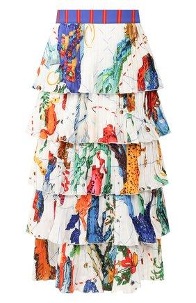 Женская юбка STELLA JEAN белого цвета, арт. 20E/J/WM/G030/4310 | Фото 1
