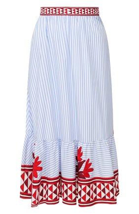 Женская хлопковая юбка STELLA JEAN голубого цвета, арт. 20E/J/WM/G028/0373 | Фото 1